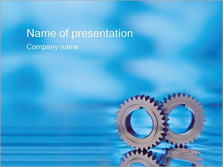 Шаблон презентации Детали и шестеренки - Титульный слайд