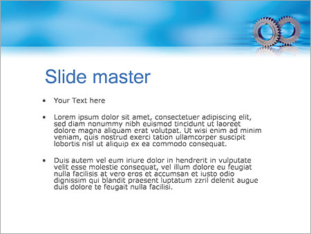 Шаблон PowerPoint Детали и шестеренки - Второй слайд