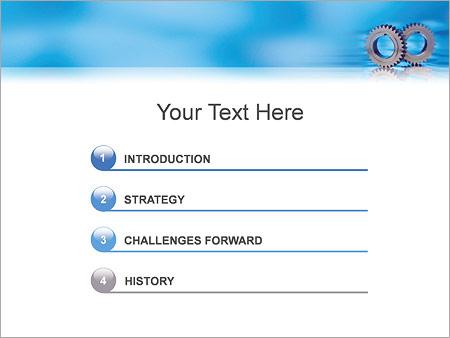 Шаблон для презентации Детали и шестеренки - Третий слайд