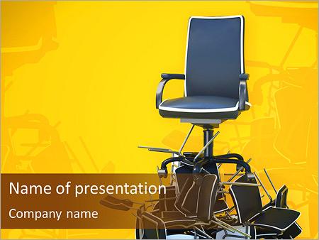 Шаблон презентации Кресло начальника - Титульный слайд