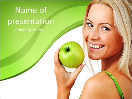 Шаблон презентации Яблочная диета - Титульный слайд