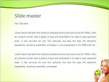 Шаблон PowerPoint Яблочная диета - Второй слайд