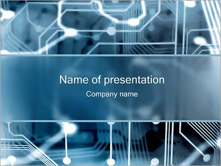 Шаблон презентации Электронная схема - Титульный слайд