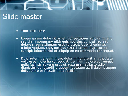 Шаблон PowerPoint Электронная схема - Второй слайд