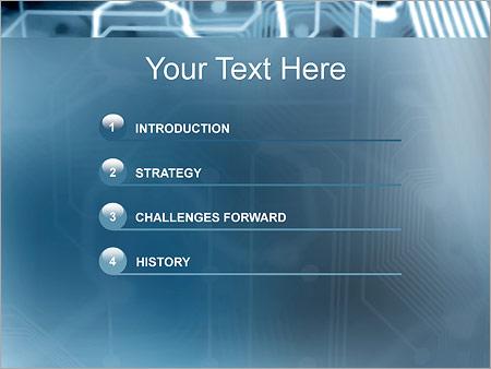 Шаблон для презентации Электронная схема - Третий слайд