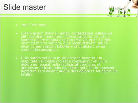Шаблон PowerPoint Удобрение растений - Второй слайд