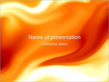 Шаблон презентации Оранжевые разводы - Титульный слайд