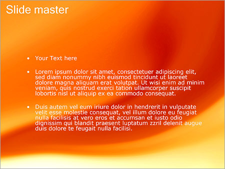 Шаблон PowerPoint Оранжевые разводы - Второй слайд