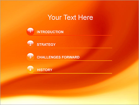 Шаблон для презентации Оранжевые разводы - Третий слайд