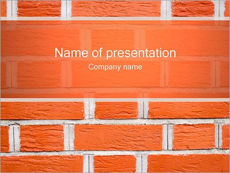Шаблон презентации Кирпичная стена - Титульный слайд