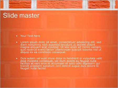 Шаблон PowerPoint Кирпичная стена - Второй слайд