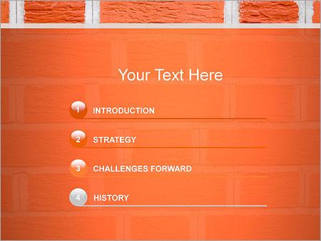 Шаблон для презентации Кирпичная стена - Третий слайд
